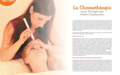 Article de presse – chromothérapie
